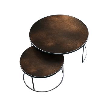 Couchtisch Nesting  - bronze - 2er set